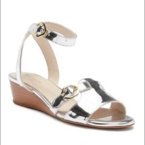 Nwob Cole Haan Silver terrin ankle strap sandals 8